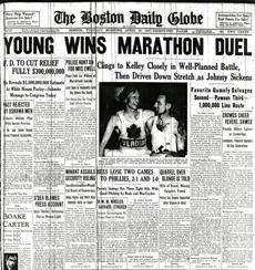 1937 Boston Marathon. Walter Young won the race. BostonMarathon1937 -- Marathonhistory