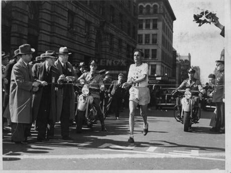 BOSTON- 1946 Greek Winner Kysiakides. The Boston Marathon -- Marathonhistory