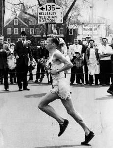 BGscan/ OPS ** 4/19/1962 Boston Marathon record holder Johnny Kelley . Globe photo Paul J. Connell. -- Marathonhistory