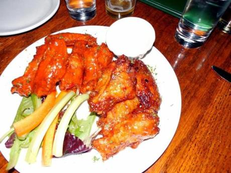 Chicken wing appetizer