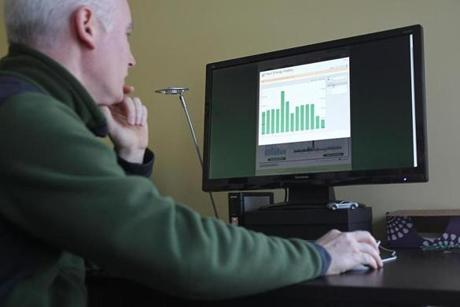Foulds monitors home power usage from his computer.