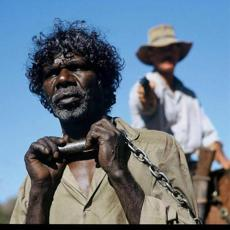 "David Gulpilil and Gary Sweet from ""The Tracker."""