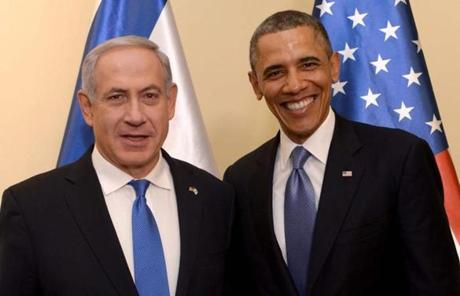 Israeli Prime Minister Benjamin Netanyahu (left) welcomed President Obama to the prime minister's residence.