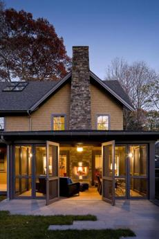 A Newton home's multiseason porch featured in past editions of area fund-raising tours.