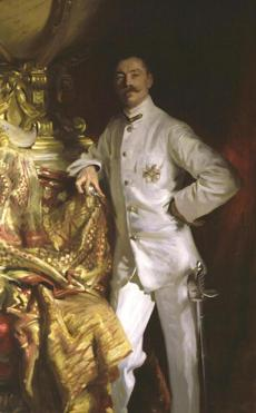 John Singer Sargent's portrait of Sir Frank Swettenham. 1904. Oil on canvas.