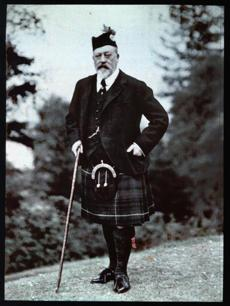 A photograph of King Edward VII, 1909.