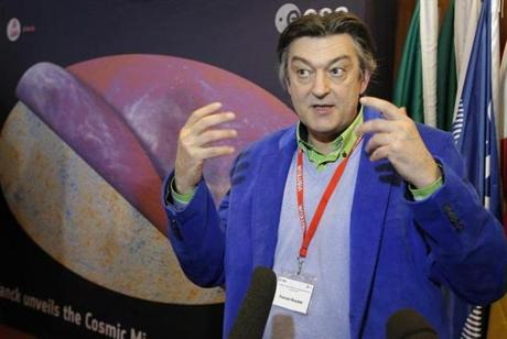 Francois Bouchet, a French astrophysicist, spoke to reporters at ESA headquarters in Paris.