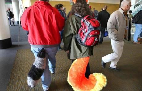 Two attendees came to the convention bright-eyed and bushy-tailed.