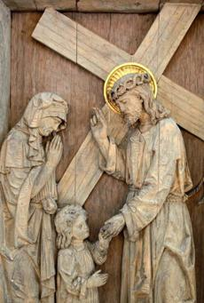 One of The Stations of the Cross at St. Mary Magdalen.