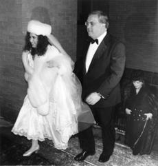Menino escorted his daughter Susan into the Sacred Heart Church in Boston for her wedding ceremony Dec. 31, 1993.