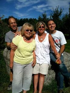 Janet Applefield with children (from left), David, Deb (Milley) and Jonathan.