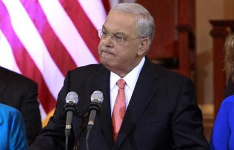 """I miss hitting every event, ribbon cutting, new homeowner dinner,"" Menino said as he announced he will not seek reelection in Faneuil Hall."