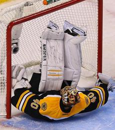 Boston Bruins goalie Tuukka Rask couldn't stop the sudden death shootout goal by the Canadiens' Brendan Gallagher.