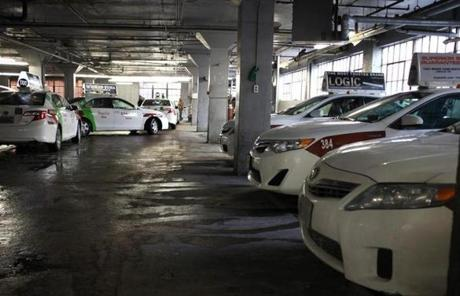 Another look inside the Kilmarnock Street garage of Boston Cab.