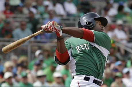 By St. Patrick's Day, with David Ortiz ailing and a hole in the Red Sox lineup, Bradley had won over a lot of people. Nick Cafardo wrote that the rookie had proven his value and earned a spot on the Red Sox.