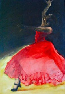 Dancers, an exhibit of oil paintings by artist and illustrator Susan Spellman, is at the Firehouse Center for the Arts in Newburyport through May 5.