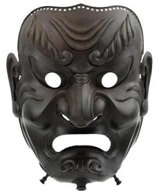 A full-face mask, or somen, dated 1710.