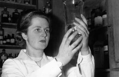 Miss Margaret Roberts worked as a research chemist in 1950.