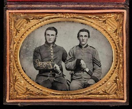 Unknown, Ò[Captain Charles A. and Sergeant John M. Hawkins, Company E, ÔTom Cobb Infantry,Õ Thirty-Eigth Regiment, Georgia Volunteer Infantry] 14met