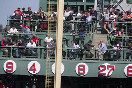 Wade Boggs thinks his number 26 should be retired by the Red Sox and be displayed above right field.