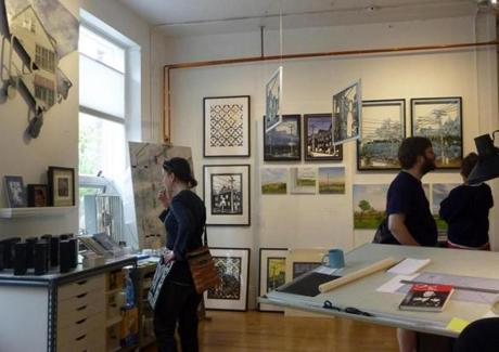 Visitors to open studios get to see the creative process up close.