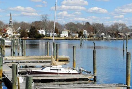 Wickford harbor in North Kingstown.