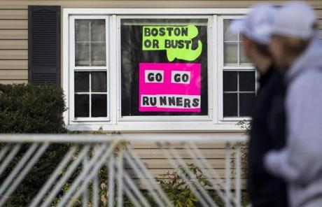 This Hopkinton house displayed signs of support for the competitors.