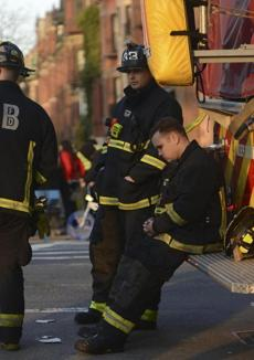 Firefighters with Engine 33, Ladder 15 out of Boylston Street were among the first responders after bombs exploded Monday at the finish line of the Boston Marathon.