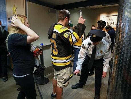 Heightened security meant it took fans longer to enter TD Garden on Wednesday night.