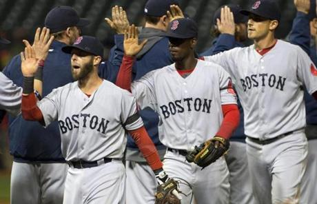 The Red Sox picked up a 7-2 win, which marked their fourth straight victory.