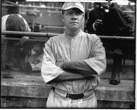 Babe Ruth in his uniform at Fenway Park in 1915 is also available.