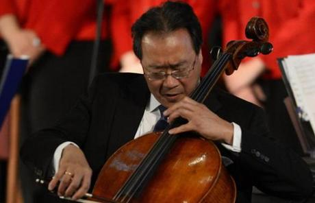 Cellist Yo Yo Ma played.
