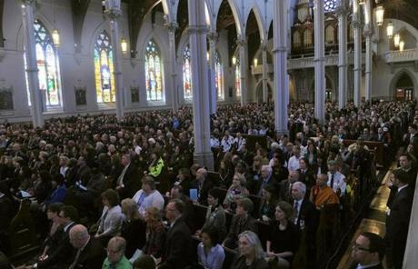 The South End cathedral was filled to capacity.