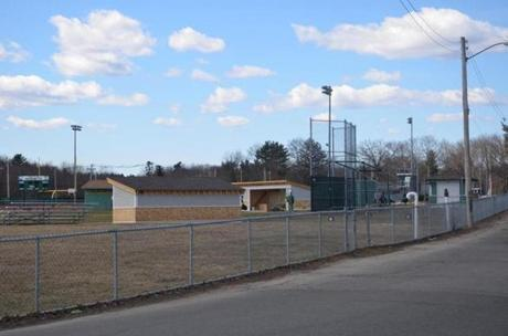 New dugouts recently installed at the North Reading baseball field. The softball field has no dugouts.