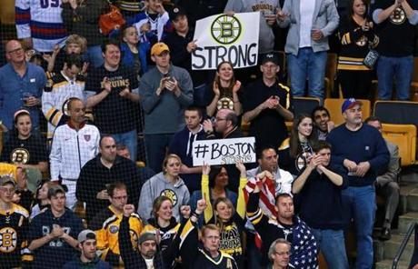 Bruins fans chanted