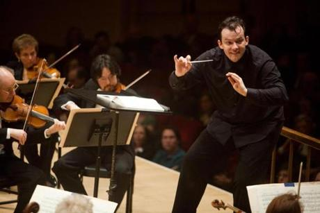 Andris Nelsons at Carnegie with the BSO.
