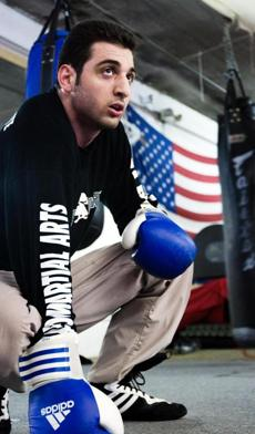 Tamerlan Tsarnaev is shown inside the Wai Kru Mixed Martial Arts center in Boston in 2009.