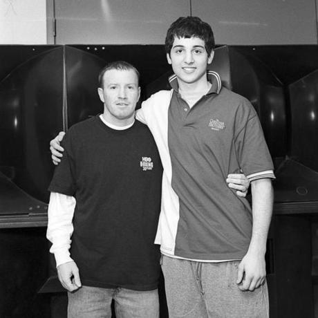 Lowell, Mass. - 05/15/2006 - Tamerlan Tsarnaev, with Micky Ward, former professional boxer, at Golden Gloves in Lowell, Mass. Anne Rearick/Agence Vu/Aurora Photos) ***FOR BOSTON GLOBE USE ONLY - NO FURTHER DISTRIBUTION***