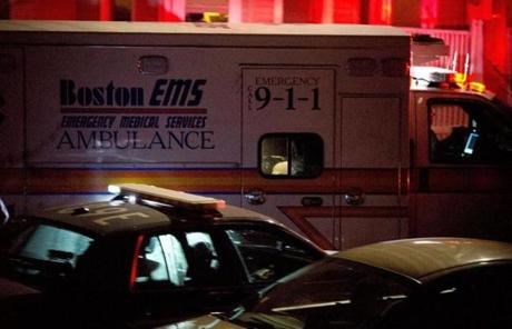 An ambulance carried bombing suspect Dzhokhar Tsarnaev from Watertown after he was apprehended.