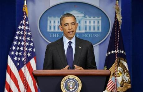 President Obama spoke from the White House after Tsarnaev was captured.