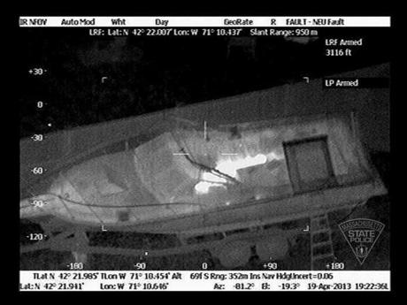 Police used thermal imaging to aid in their search for 19-year-old Dzhokhar Tsarnaev.
