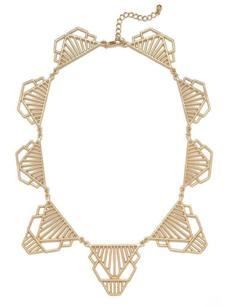 Gold Cleo Deco Collar, $28 online only at baublebar.com