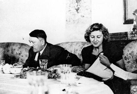 Adolf Hitler, shown with mistress Eva Braun.
