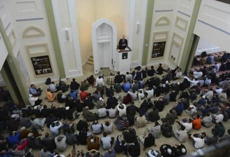 Congregants sought healing during Friday prayer at the Roxbury mosque following the Marathon bombings.