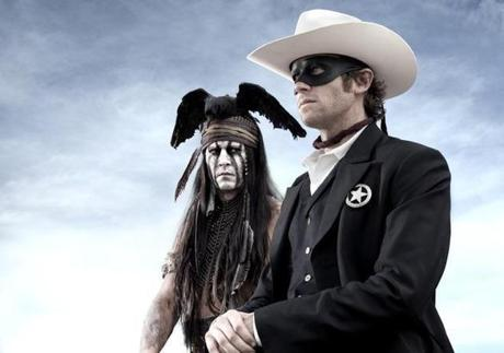 "Johnny Depp (left) plays Tonto and Armie Hammer is the title character in ""The Lone Ranger."""