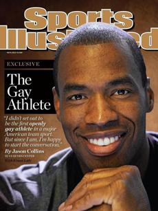 Jason Collins on the cover of Sports Illustrated