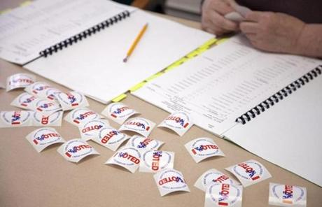As of 11 a.m., only 112 people had voted at the Malden location.