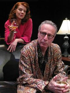 Linda Goetz is Claire and Chuck Schwager is Tobias in a scene form Edward Albee's Pulitzer Prize-winning drama 'A Delicate Balance' on stage May 9 - June 1 at Salem Theatre Company.