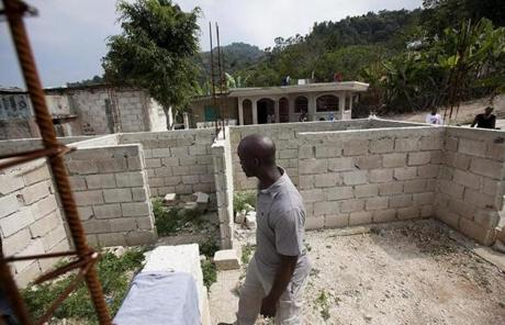 Harold Roy, a security officer at Massachusetts General Hospital, is working to rebuild his family's homeland of Haiti.