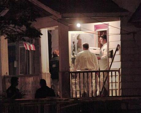 FBI agents removed evidence from the house.